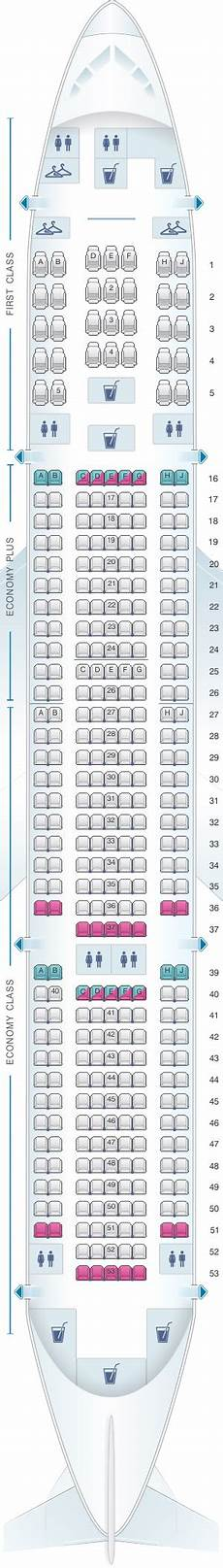United Airlines Seating Chart 777 International Seat Map United Airlines Boeing B777 200 777 Version 4