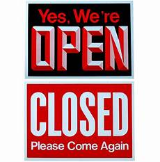 Closed For Business Sign Big Open Closed Business Sign Store Window New Ebay
