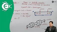 Design Of Shaft Ppt Problem 1 On Design Of Shaft Design Of Machine Youtube