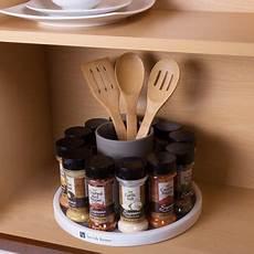 lazy susan turntable spice rack rotating cabinet shelf