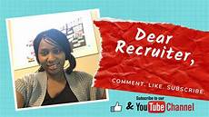 Dear Recruiter Dear Recruiter Series Part 2 Youtube