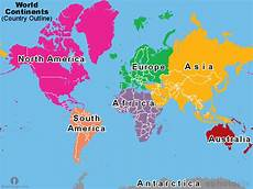 Continent World Map Learn World Map Introductory Post Earth Formation And