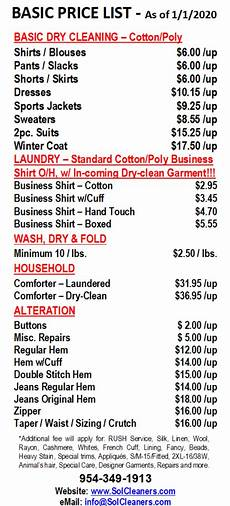 Merry House Cleaning Prices Price List