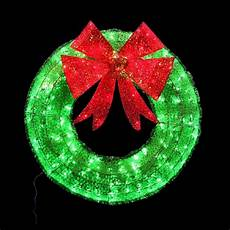 Red And White Large Christmas Lights Home Accents Holiday 36 In Green Tinsel Wreath With