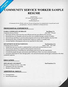 Community Service Worker Resume Community Service Worker Resume Sample Http