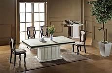 luxury travertine dining table set high quality health