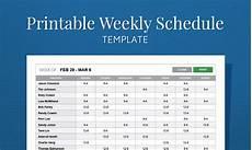 Work Schedule Creator Free Free Printable Weekly Work Schedule Template For Employee