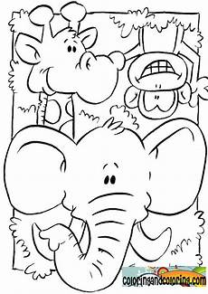 jungle animals coloring pages for coloring and