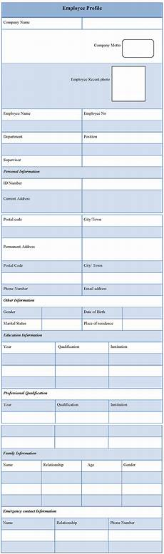 Profile Template Profile Template For Employee Template Of Employee