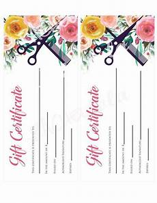 Hair Salon Gift Certificate Template Free Hair Salon Watercolor Floral Printable Gift Certificate