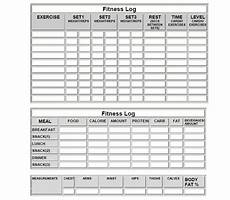 Fitness Log Example Fitness Logs