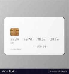 Credit Card Design Template Realistic White Credit Card Mockup Template With Vector Image