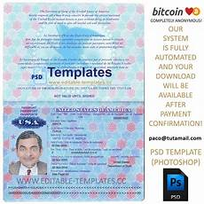 Passport Template Download Fully Editable Usa Passport Psd Template
