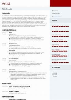 Art Resume Sample Artist Resume Samples And Templates Visualcv