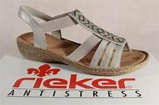 Damen Sandalen Sandaletten Rieker Sandalen Lederimitat 60581 Grau Ch1689226 Mbt Schuhe P 2708 by Rieker Sandalen Damen Bestellen Bei Yatego