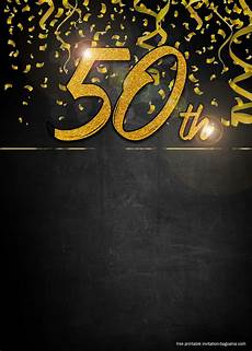 50th Birthday Invitations Free Free 50th Golden Invitation Templates For Men Printable