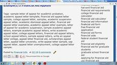 Sample Letters Of Appeal Free Academic Appeal Sample Letter For College And