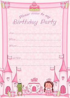 Invitation Cards To Print Free Birthday Invitations For Kids Bagvania