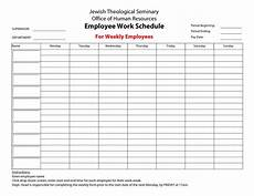 Employee Hours Template 20 Hour Work Week Template Employee Work Schedule For