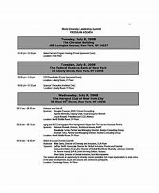 Sample Of Program Agenda Free 7 Sample Event Agenda Templates In Pdf Ms Word