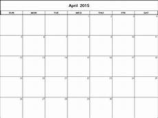 typable calendar 2015 april 2015 printable blank calendar calendarprintables net