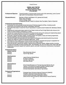 Music Teacher Resume Sample Elementary Music Teacher Resume Example Http