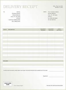 delivery receipt template free sle delivery receipt