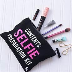 selfie preparation kit make up bag personalised by rock