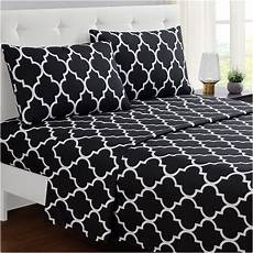 mellanni bed sheet set cal king black brushed microfiber