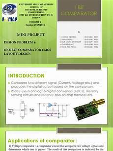 Cmos Comparator Design Project 1bit Comparator 90n Cmos Layout Design Cmos Digital