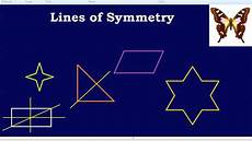 Line Of Symmetry Powerpoint Lines Of Symmetry Youtube