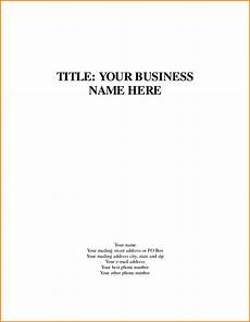 Title Examples Business Title Page Template Quote Templates Apa Essay