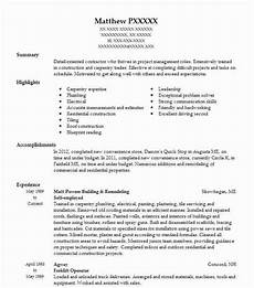 Resume Self Employed Self Employed Carpenter Resume Example Down Home