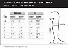 Ariat Heritage Boot Size Chart Ariat Bromont H2o Black Boots Junior