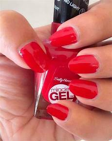 How To Dry Gel Nails Without Uv Light Miracle Gel Sally Hansen Rhapsody Red Review Amp Swatches