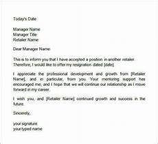 Two Weeks Notice Letter Retail Free 15 Sample Two Weeks Notice Letter Templates In Ms