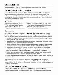 Sample Makeup Artist Resume Makeup Artist Resume Sample Monster Com