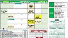 Marketing Calendar Template Excel 2019 Marketing Calendar Template In Excel Free Download