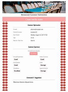 Restaurant Survey Template Restaurant Customer Satisfaction Survey Template Pdf
