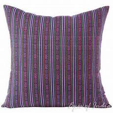 striped purple green kilim moroccan dhurrie colorful sofa