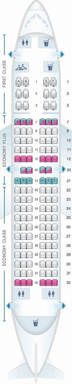 United Airlines Boeing 737 Seating Chart Seat Map United Airlines Boeing B737 700 Version 1