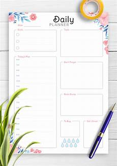 Hourly Daily Planner Download Printable Hourly Planner With Daily Tasks Amp Goals Pdf