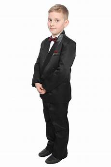 boys formal black tuxedo wedding tux cruise prom age 10 11