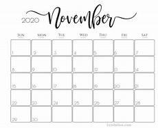 November 2020 Calendar For Kids Cute Printable 2020 Calendar For Year Schedule Calendar
