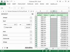 Excel Random Number Random Number Generator For Excel Unique Integers