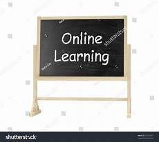 Online Chalkboard Online Learning Concept Blackboard Chalkboard Isolated