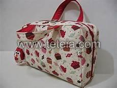tet 233 ia patchwork necessaire maleta m 233 dica grande cupcakes