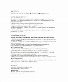 New Esthetician Resumes Esthetician Resume Template 5 Free Word Documents