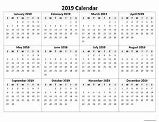 Free Printable Yearly Calendar Templates 2015 Printable Yearly Calendar 2019 Monthly Calendar