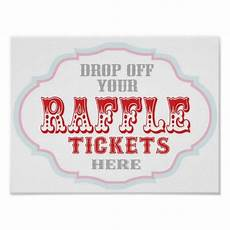 Raffle Ticket Signs Raffle Ticket Booth Sign Poster Zazzle